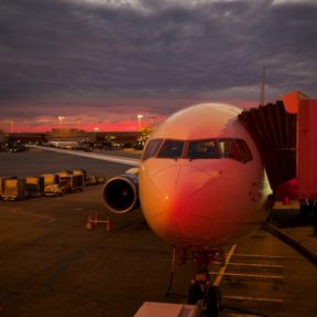 Plane Setting At Gate