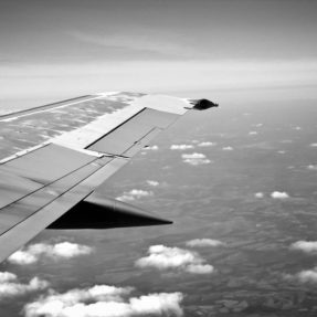 Black and White Airplane Wing