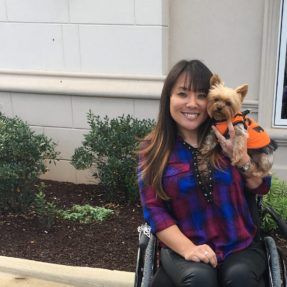 Jillian Underriter with her service animal