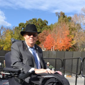 Larry Dodson at Vietnam Veterans Memorial on the National Mall