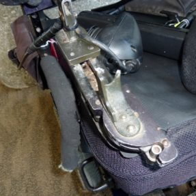 Close-up Photo of Damaged Wheelchair